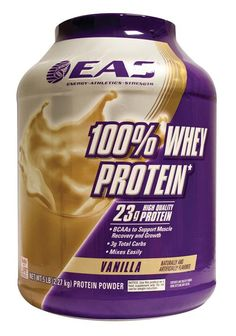 EAS International 100% Whey Protein Vanille 350 gram - Whey Protein is een puur prote�ne supplement zonder