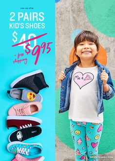 Shop the best Back to School Styles from head-to-toe at Fabkids.com! New VIP Offer: 2 Pairs for $9.95!