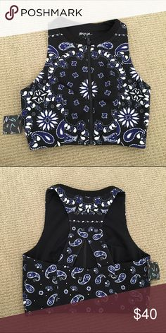 NWT neoprene crop top NASTYGAL From Nasty Gal. Can be worn as a top and swim top Nasty Gal Swim Bikinis