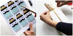 Manualidades para navidad: Papeles de regalo - All Lovely Party