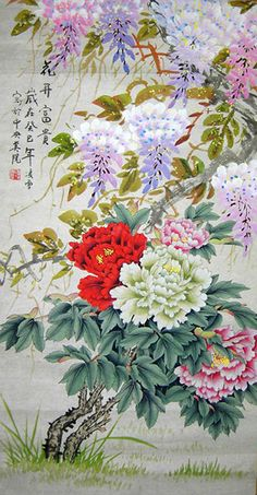 Fortune Blooming Flowers Original Chinese Peony Painting Wall Scroll : http://www.chilture.com/fortune-blooming-flowers-original-chinese-peony-painting-wall-scroll-p-620.html