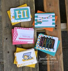 Everyday Note Cards by jentimko - Cards and Paper Crafts at Splitcoaststampers