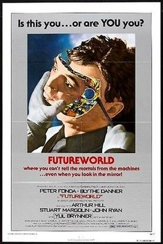"""BRING BACK THE 70'S!!"" - Just added some GREAT movie posters from the '70's. Mostly all 1-sheets that measure approx. 27x41. FUTUREWORLD -1976- orig 27x41 SCI-FI movie poster- ""A"" -PETER FONDA, YUL BRYNNER"