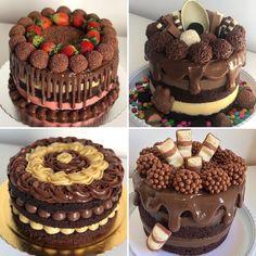 Clique no pin para saber mais Pasta Cake, Naked Cakes, Cupcakes, Oreo Cake, Baking Tips, Food Gifts, Mini Cakes, Marshmallow, Chocolate Cake