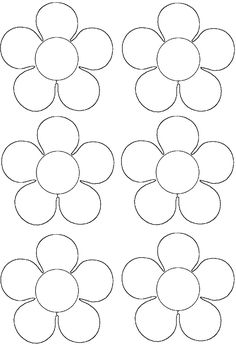 Primavera - New Sites Felt Flower Template, Balloon Template, Flower Svg, Leaf Template, Flower Crafts, Crown Template, Felt Flowers, Diy Flowers, Paper Flowers