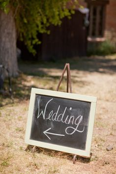 Have chalk boards to let guests know where things are....reception, gifts, restrooms, ceremoney, etc...
