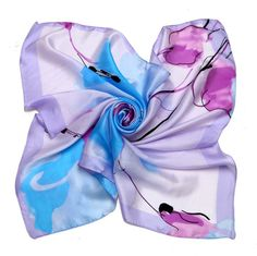 [LESIDA]Delicately Printed Casual Mint Scarf,Real 100% Silk Scarf Women,Fashion Soft And Comfortable Tippet,Wrap/DF9120