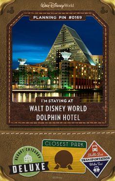 Walt Disney World Planning Pins: Dolphin Hotel