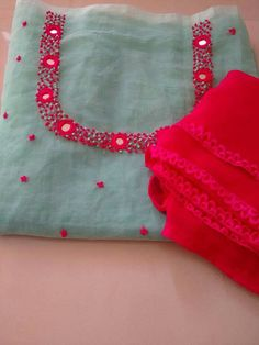 For Order, Call or Whatsapp on or visit insta page WOMN CLOTHING. we are designer studio specialized in custom designer dresses. No CASH ON DELIVERY, worldwide delivery. Embroidery On Kurtis, Embroidery Neck Designs, Embroidery Works, Embroidery Suits, Beaded Embroidery, Embroidery Patterns, Hand Embroidery, Churidar Designs, Kurti Neck Designs