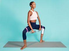 Courtney Celeste Spears modeling a no barre needed workout