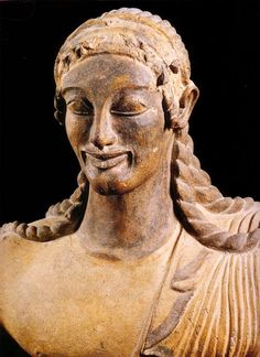 #Roman #Art #Apollo Sixth century BC Terracotta Museo Nazionale Etrusco di #Villa #Giulia, #Rome, #Italy