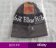 b67161ba6e5 Pabst Blue Ribbon x Spacecraft Beanie Stocking Cap Hat PBR Beer New Gray  Black