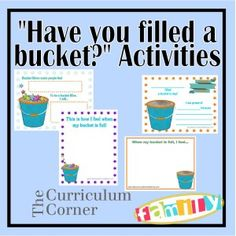 Have You Filled a Bucket activities for preschool and kindergarten
