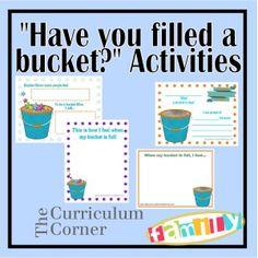 Have You Filled a Bucket activities for preschool and kindergarten