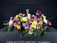 Solar Lite Angel Memorial Cemetery Flower Headstone/Tombstone Saddle Decoration picclick.com