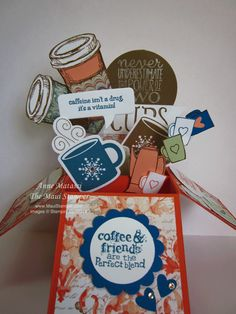 Maui Stamper Birthday Cheryl's Coffee Card in a Box