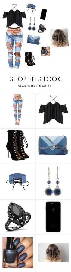 """""""Denim Bad Girl"""" by pinkleopardchick ❤ liked on Polyvore featuring STELLA McCARTNEY and Nine West"""