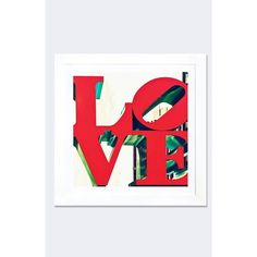 Icanvas 'Love' Framed Fine Art Print (125 AUD) ❤ liked on Polyvore featuring home, home decor, wall art, red, red home accessories, red home decor, framed wall art and red wall art