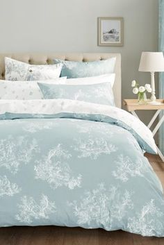 50 Stunning Blue Bedroom Decorating Ideas To Bring Perfect Accent. The blue bedroom decorating ideas may be used not just to produce the bedroom attractive but the ideal location for getting a great n. Duck Egg Blue Bedroom, Blue Bedroom Walls, Blue Bedroom Decor, Bedroom Colors, Dream Bedroom, Home Bedroom, Master Bedroom, Blue And Cream Bedroom, Duck Egg Blue Bedding