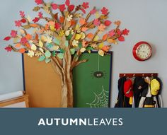 Make your own Paper Autumn Tree - super kid friendly and easy on the budget. Use left over construction paper and you're good! Paper Tree Classroom, Classroom Decor, Preschool Classroom, Autumn Crafts, Holiday Crafts, Bulletin Board Tree, 3d Tree, Class Decoration, Fall Decorations