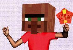 Minecraft Style Helmet Free Papercraft Download - http://www.papercraftsquare.com/minecraft-style-helmet-free-papercraft-download.html#Cosplay, #Helmet, #Minecraft