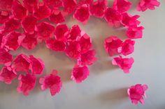DIY paper flower background tutorial