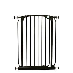 Dreambaby Extra-Tall Swing closed gate is extremely versatile.  Keep your child safer by preventing access to areas of potential danger.  The extra-tall height is especially good for use with stairs.  With easy close feature and its double locking system, this attractive pressure mounted gate is easy to install. With your Dreambaby gate you can feel peace of mind knowing your child is safer.  Great for cordoning off spaces from door widths to wider spaces with the use of additional…