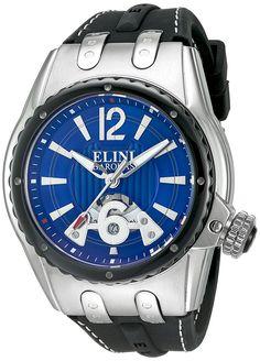 019813c16e0 Amazon.com  Elini Barokas Men s  Genesis Vision  Swiss Quartz Stainless  Steel Casual Watch (Model  ELINI-20007-03-BB)  Clothing