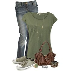 Jeans and Tee, created by cindycook10 on Polyvore