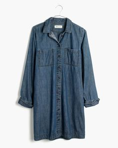 madewell denim shirtdress.