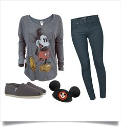 Disneyland outfit--simple but cute. I'm ready for Disney! Cute Disney Outfits, Disney World Outfits, Disneyland Outfits, Disney Inspired Outfits, Disney Style, Cute Outfits, Disney Fashion, Disneyland Trip, Disney Clothes