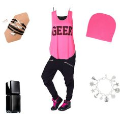 Pink Geek (hip hop outfit) #hiphop #dance #harempants