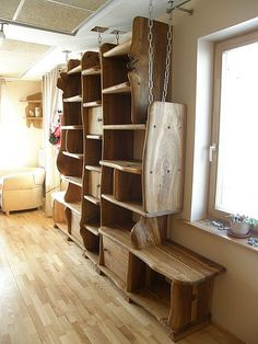 Wood Shelves (31) by Nature form furniture, via Flickr