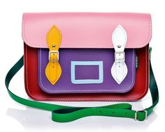 Kaleidoscope Leather Satchel - Kaleidoscope Collection - Satchels - Bags
