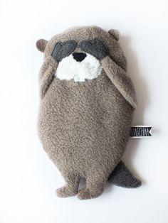 Wärmekissen, Kühlkissen Biber // cool pack, hot pack beaver by maschaa via DaWanda