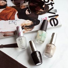 Four to try: @OPI_Products Coconuts Over OPI, Original Nail Envy, Infinite Shine Primer and Infinite Shine Gloss top coat. This combo gives me crazy longevity up to 7 days without chipping, and my weak bendy nails feel thicker and stronger 💅:spa