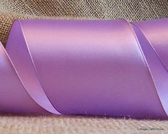 """Offray Light Orchid Lavender Wired Edged Satin Ribbon, 2 1/2"""" wide from Cottage Crafts Online"""