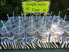 Drinks at a Jungle Safari Party #junglesafari #partydrinks