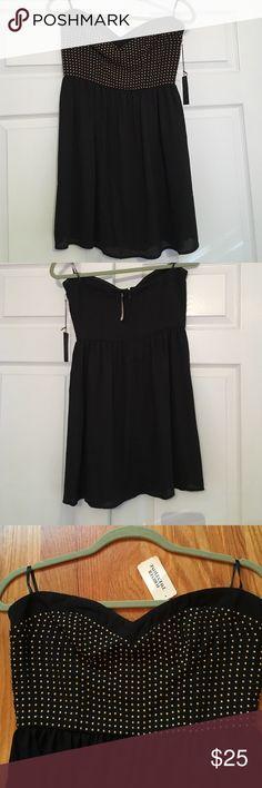 Forever 21 black w/ gold studs dress NWT. Party dress. Medium Forever 21 Dresses Mini