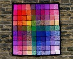 Double Vision - PDF pattern for knitted afghan, wall-hanging and cushion
