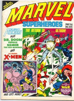 Reprinted from Avengers Featured Characters: Avengers Comic Book Covers, Comic Books, Pink Floyd Albums, William Hartnell, Uk Singles Chart, Sub Mariner, Strange Tales, Marvel Women, Bruce Banner