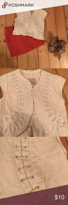 Selling this Cap sleeve crop jacket on Poshmark! My username is: daniellefh. #shopmycloset #poshmark #fashion #shopping #style #forsale #Jackets & Blazers