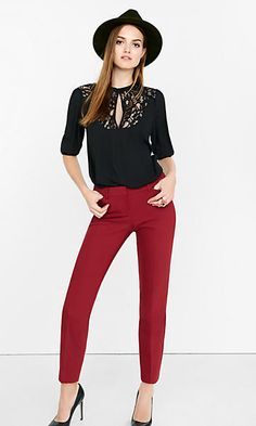 Red Dress Pants