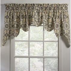 Darby Home Co Gilberto Lined Empress Swag Window Valance Swag Curtains, Hanging Curtains, Picture Window Curtains, Window Cornices, Thermal Drapes, Blue Drapes, Kitchen Valances, Country Curtains, Custom Drapes