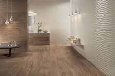 Acquista on-line wall design dune By atlas concorde, rivestimento tridimensionale in ceramica a pasta bianca, Collezione wall design 3d Wall Tiles, White Wall Tiles, Decorative Wall Tiles, White Walls, Deco Design, Tile Design, Decor Interior Design, Interior Decorating, 3d Wall Panels