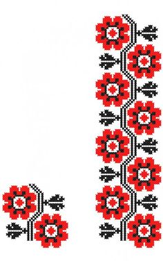 MP489 Cross Stitch Art, Cross Stitch Flowers, Cross Stitch Embroidery, Slavic Tattoo, Sewing Patterns, Crochet Patterns, Diy Clothes, Folk Art, Diy And Crafts