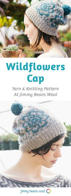 Rowan Pure Wool Worsted Superwash Wildflowers Cap Kit - Hats and Gloves | Jimmy Beans Wool | Yarn and Knitting Pattern | Knitting Kits | DIY Knitting Kit | Knitting Supplies | DIY Knitting Hat | Fun Weekend DIY Activities And Ideas