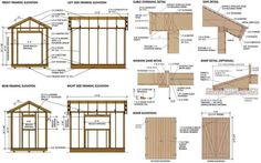 RyanShedPlans - Shed Plans with Woodworking Designs - Shed Blueprints, Garden Outdoor Sheds — RyanShedPlans Backyard Sheds, Outdoor Sheds, Building A Shed, Building Plans, Shed Blueprints, Build Your Own Shed, Free Shed Plans, Simple Shed, Small Sheds