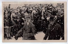A crowd candid of Hitler at the 1936 winter Olympics in Garmisch-P.