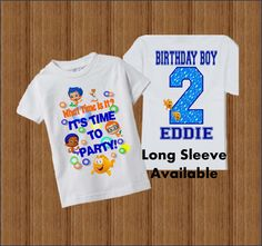Bubble Guppies Birthday Shirt Bubble Guppies by BirthdaysGalore